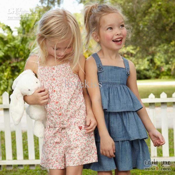 أحلى ملابس أطفال بنات 2014 صيف شتاء Girls Denim Dress Girls Summer Outfits Kids Outfits