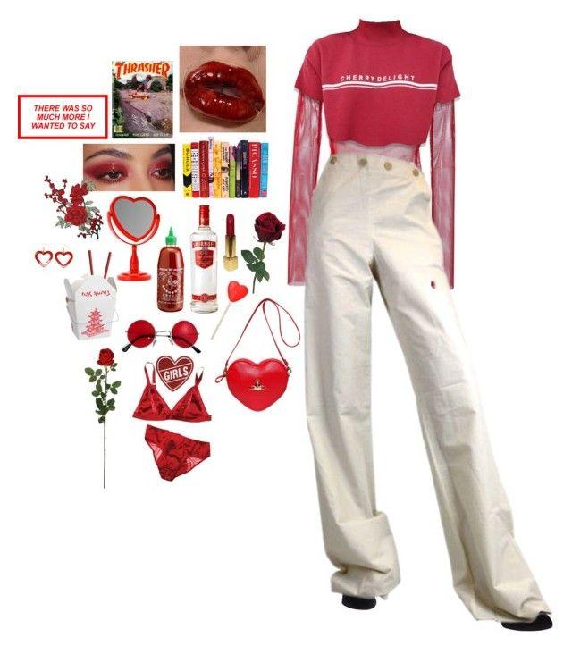 """cherry ripe"" by gobletoffire ❤ liked on Polyvore featuring G.V.G.V., Dolce&Gabbana, Bottega Veneta, Chanel, Dollydagger, Vivienne Westwood and Laura Cole"