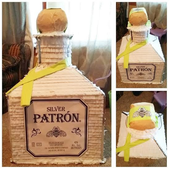 Patron Tequila Bottle Pinata I Made For My Bfs Birthday Made With