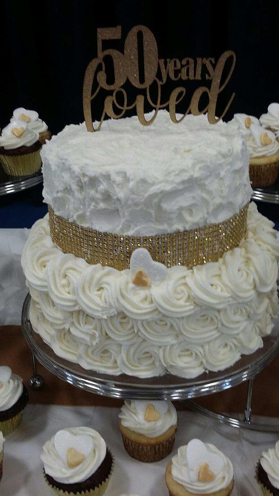 50th Anniversary cake 50th wedding anniversary cakes