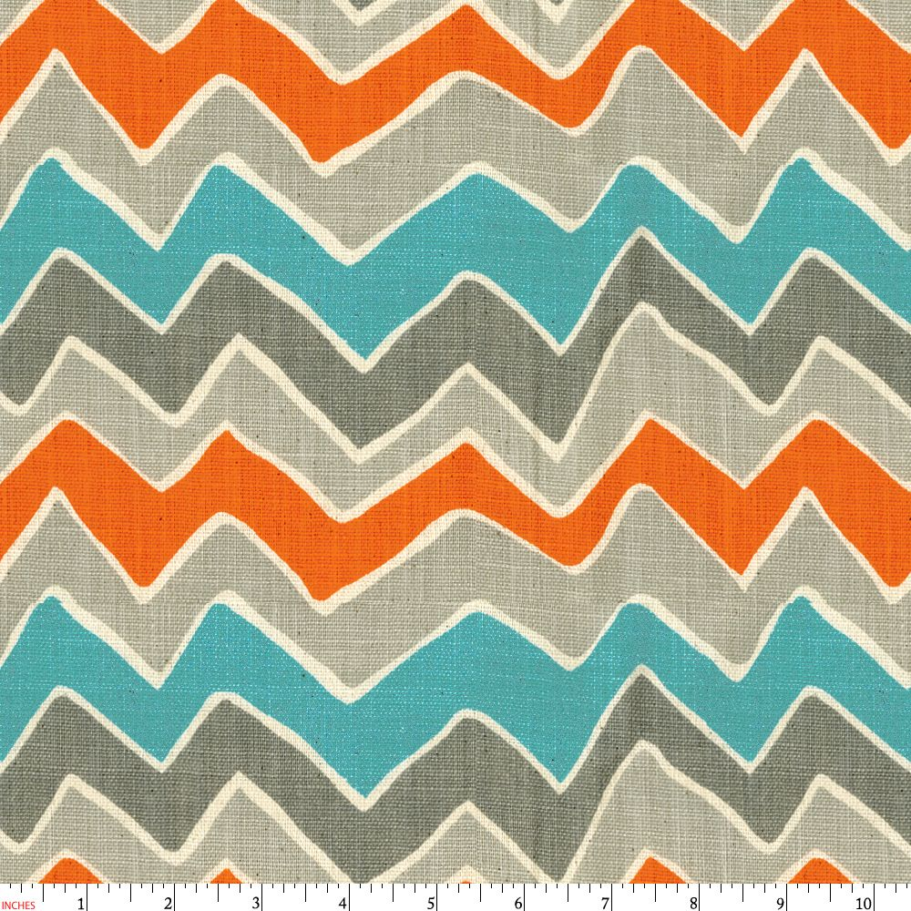 Chevron print fabric by the yard - Gray And Orange See Saw Fabric By The Yard Gray Fabric Carousel Designs
