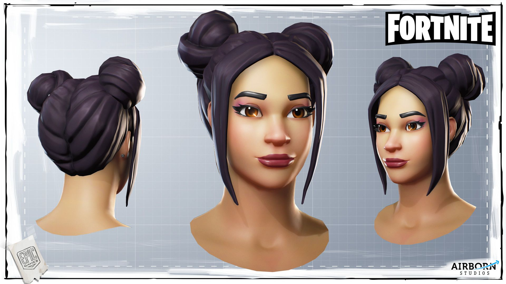 ArtStation - Fortnite Character Head Batch 04, Airborn