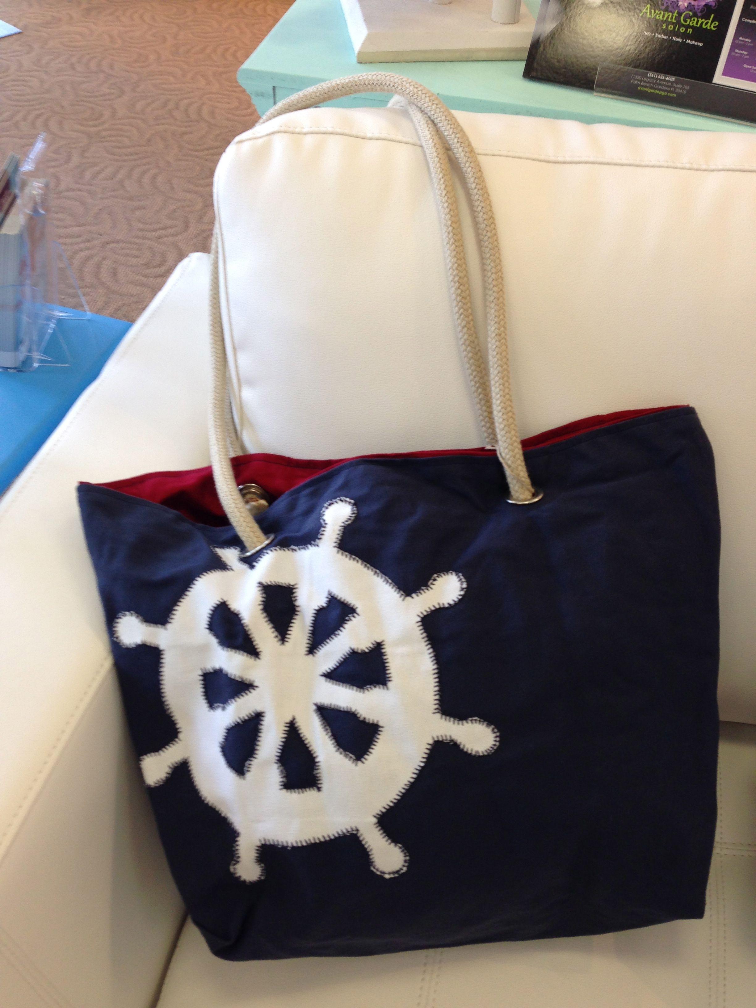Ship wheel, Beach Decor, Beach Bag, Nautical Design, Beach Themed ...