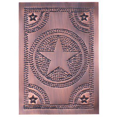 Irvins Tinware Regular Star Panel in Blackened Tin