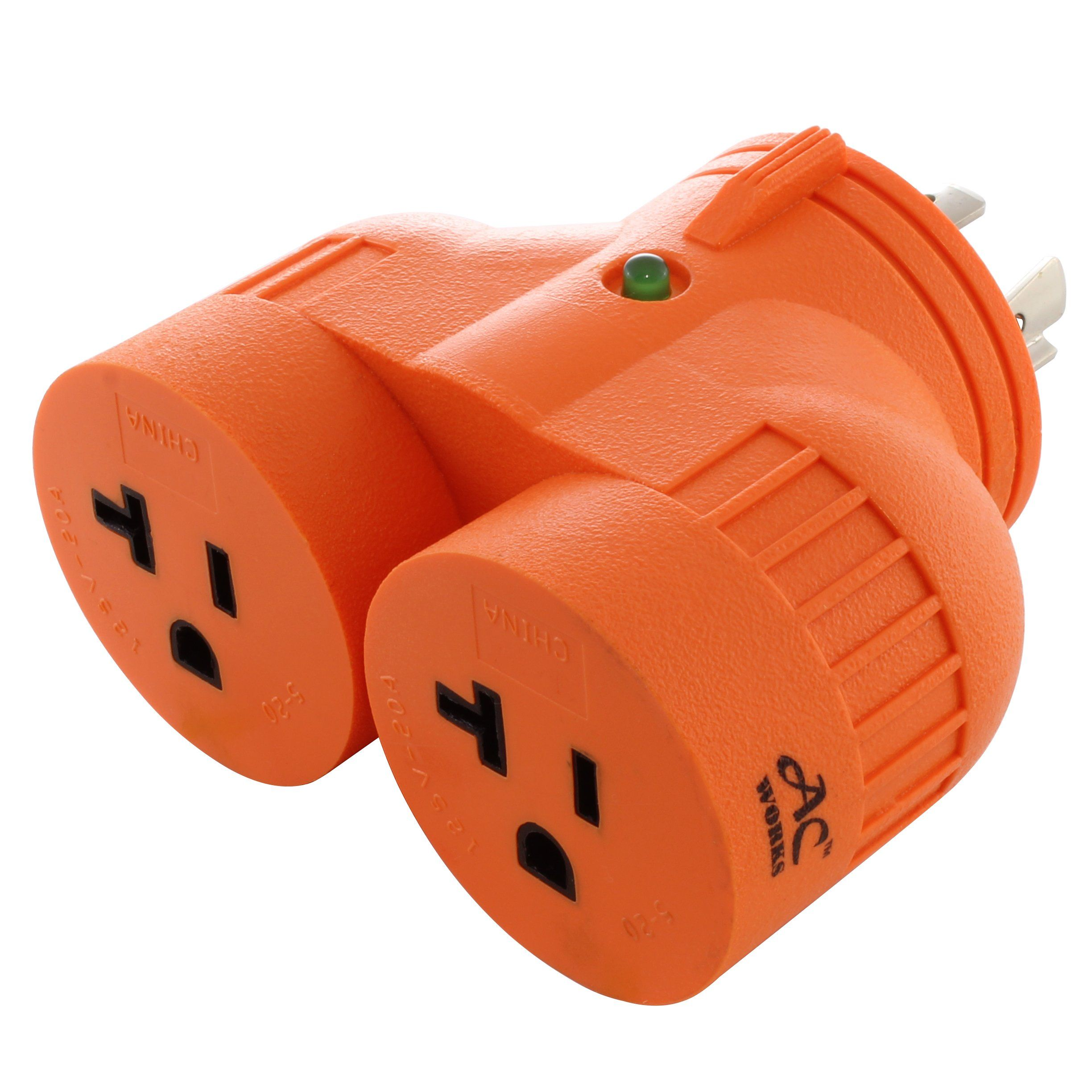 Ac Works V Duo Advl1420520 Adapter L14 20p 20a 4 Prong Plug To 2 15 20a Household Connectors Plugs Dryer Plug It Works