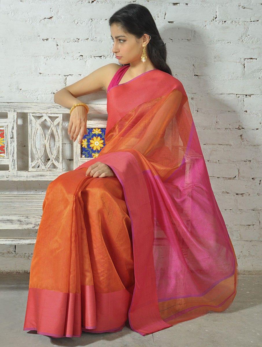 1c01f1cc80 Pink Cotton Silk Saree - Buy > > Pink Cotton Silk Saree Online at  Jaypore.com