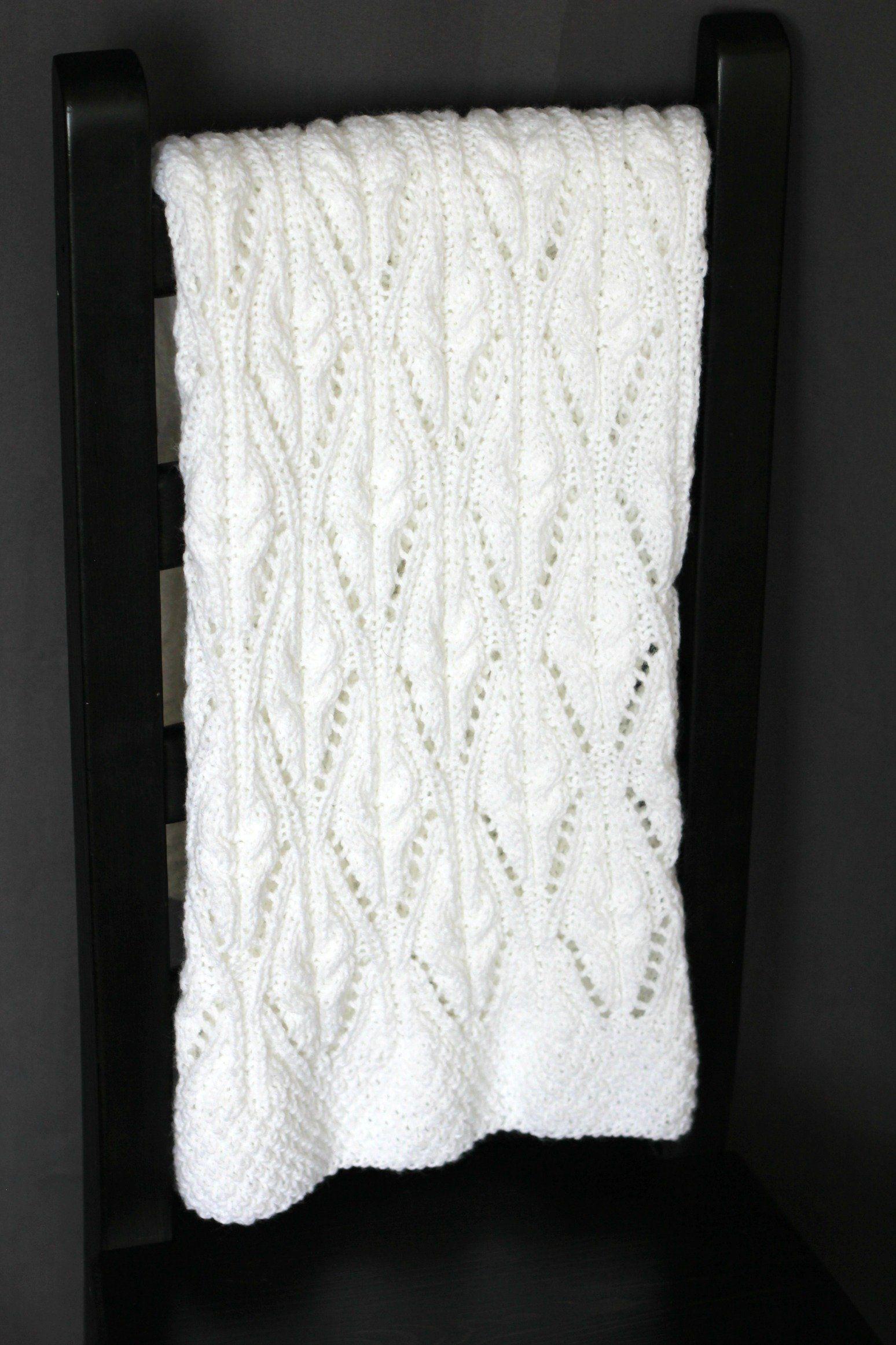 Baby blanket knitting pattern - Vinton Blanket