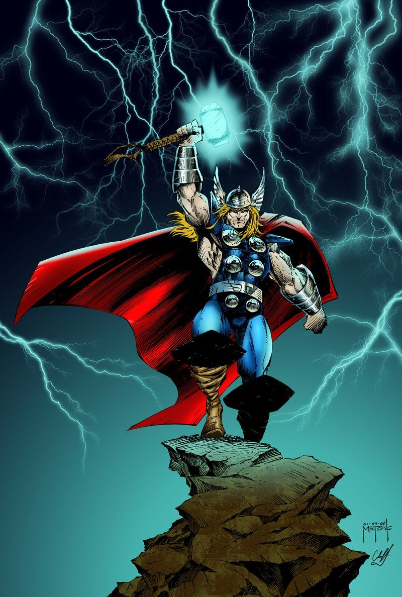Thor - by Jason Metcalf, Inks by Color by Cliff
