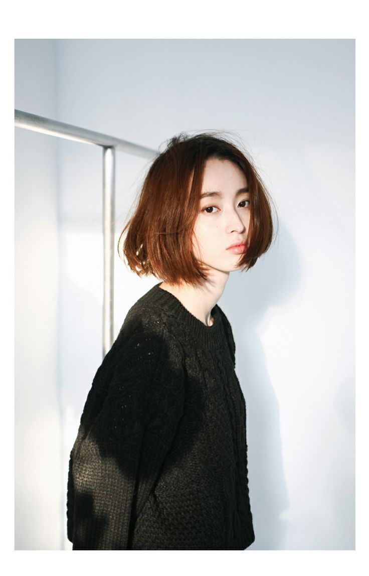Short blunt bob hairstyle with bangs short hairstyles - 12 Charming Short Asian Hairstyles For 2017