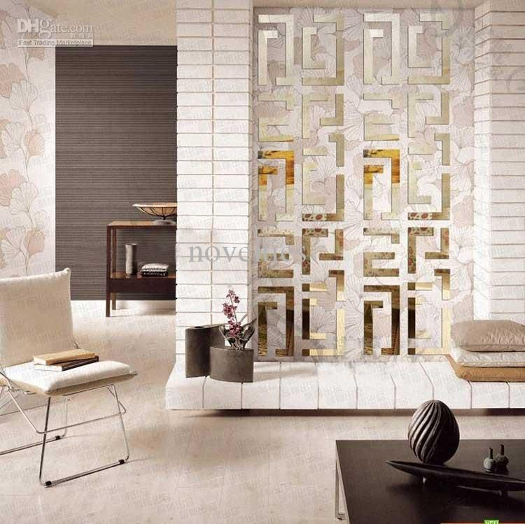 Home Decoration Simple 3d Acryl Wall Sticker House Decorative Luster  Sticker Wall Paster Mirror Plane Gold U0026 Silver Dropship, Buy Cheap Home  Decor Decals ...