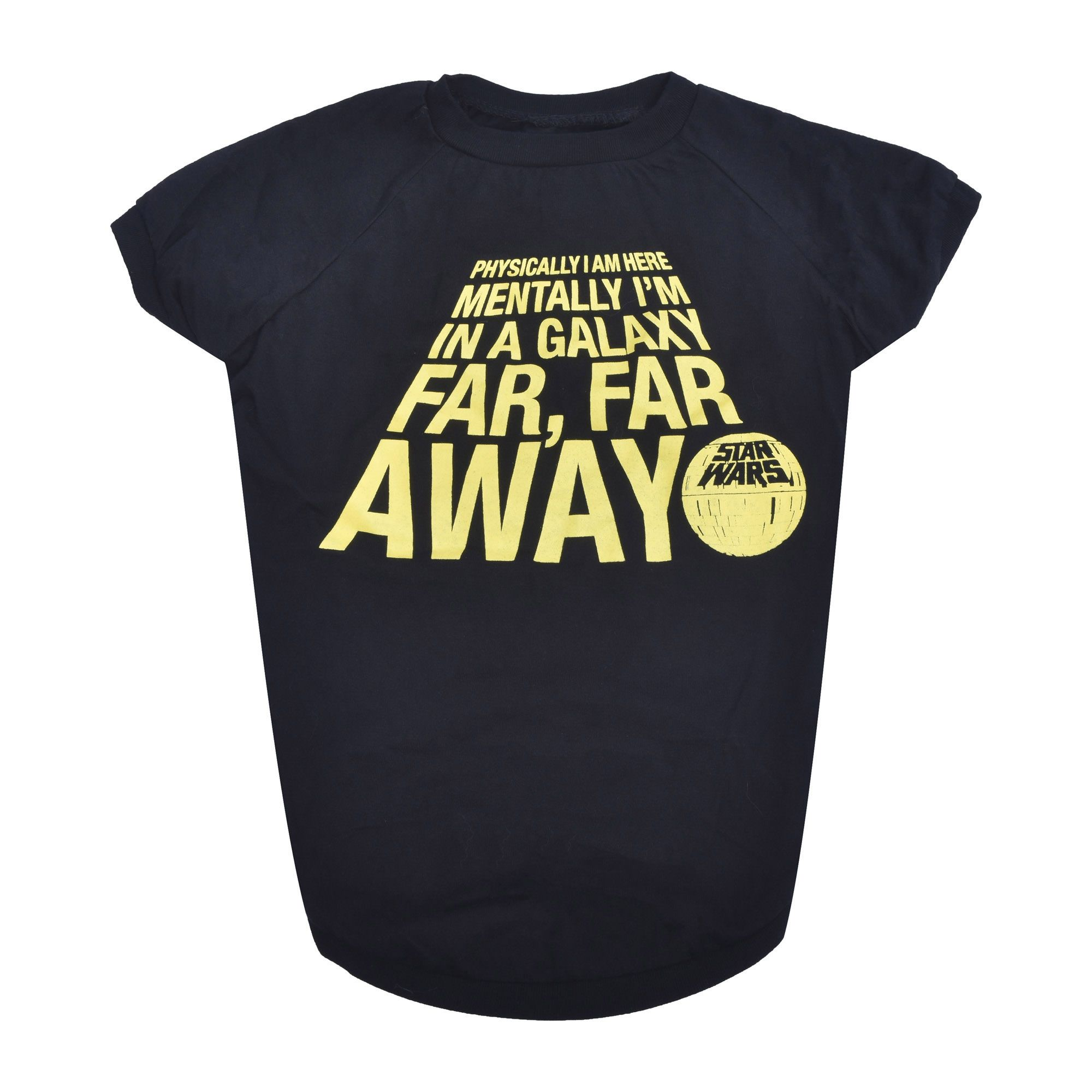 Fetch for Pets Star Wars Black Mentally In A Galaxy Far Away Dog T-Shirt, XX-Large