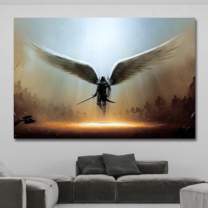 angel wings wall art canvas