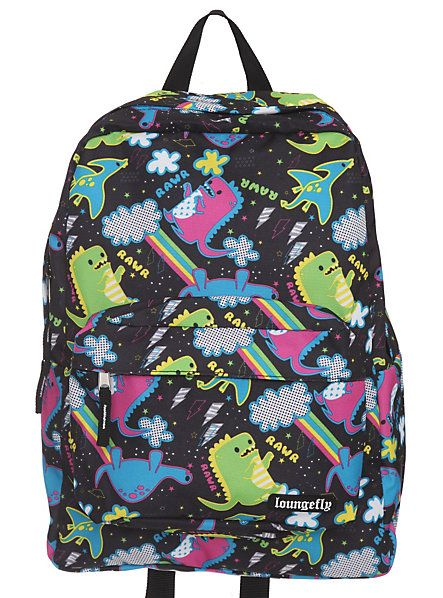 ad045f77b2 Hot Topic Backpacks Loungefly Dino Rawr Backpack SKU 145581 HOTTOPIC  EXCLUSIVE 24.99 . official photos 83cee ...