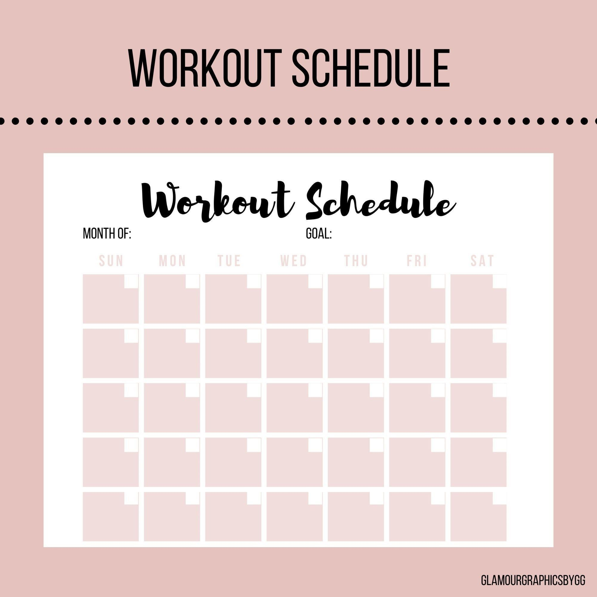 Pin On Fitness Workout Schedule Fitness Planner Abb Workouts