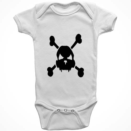 Skull And Crossbones Baby Onesie Created By Ads Bulk Editor 07 16