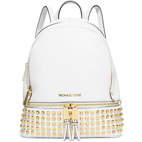 2751b9dca8c4 MICHAEL Michael Kors Rhea Small Studded Leather Backpack ( 358) ❤ liked on Polyvore  featuring