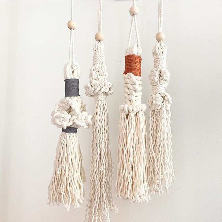 Attractive Macrame Tassels Are Very Versatile ... They Can Be Placed On Door Knobs,  Used As Tie Backs, Or Just Hung As A Decorative Piece On Your Walls ...