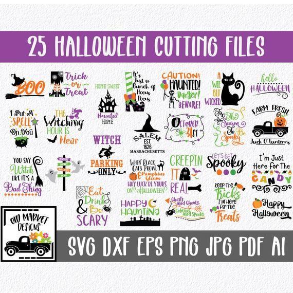 Halloween SVG Cut file Bundle - 25 Halloween Image
