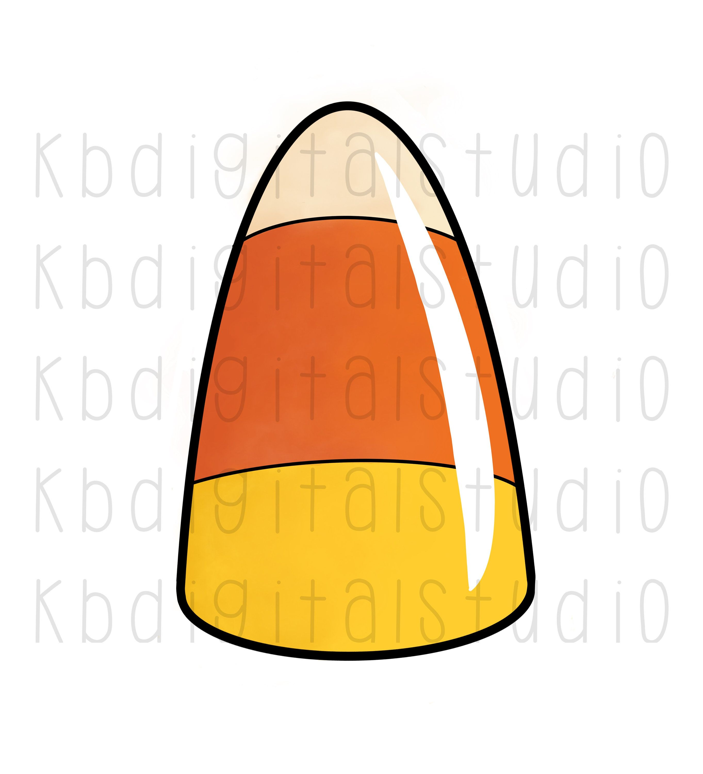 Candy Corn Clip Art Full Color Png Transparent Background Etsy Clip Art Transparent Background Rhinestone Decal