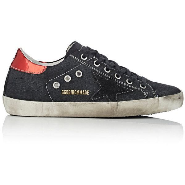 Golden Goose Women's Women's Superstar Canvas Sneakers ($655) ❤ liked on Polyvore featuring shoes, sneakers, leather wedge sneakers, wedges shoes, metallic gold sneakers, golden goose sneakers and star sneakers