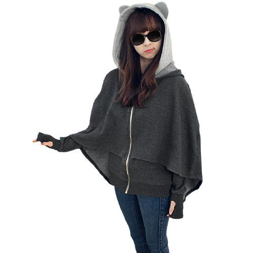 Women Cartoon Hooded Zip Up Long Sleeve Cape Poncho Coat Allegra K,http://www.amazon.com/dp/B00EZJU0PC/ref=cm_sw_r_pi_dp_.eFOsb0TD7ZRYJ4W