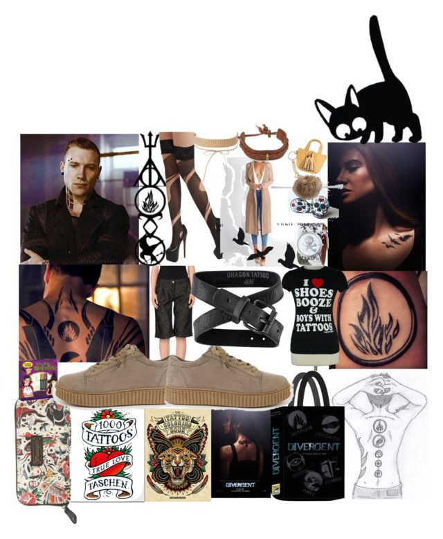 """lots of Tattoos"" by lerp ❤ liked on Polyvore featuring Loungefly, Jeans Tattoo, Merona, H&M, Nemesis, Calavera, Charlotte Russe, Lane Bryant and NOVICA"