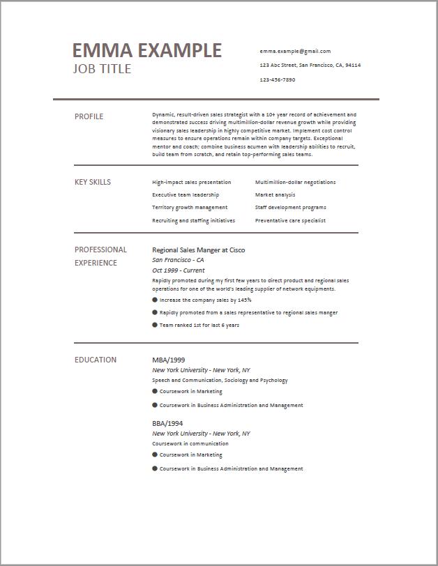 Minimalistic Resume Template Job Resume Format Free Resume