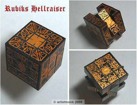 Diy Hellraiser Rubiks Cube Puzzle Box My Inner Geek Puzzle Box