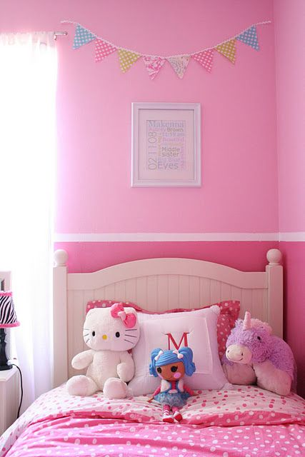 Cute Wall Idea With Two Different Shades Of Color New Home Ideas
