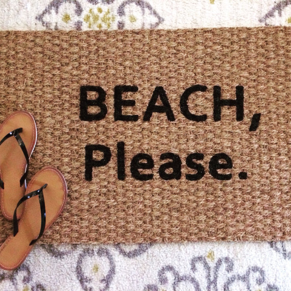 Beach Please Doormat. Fun And Funny Welcome By SweetSiennaDesigns