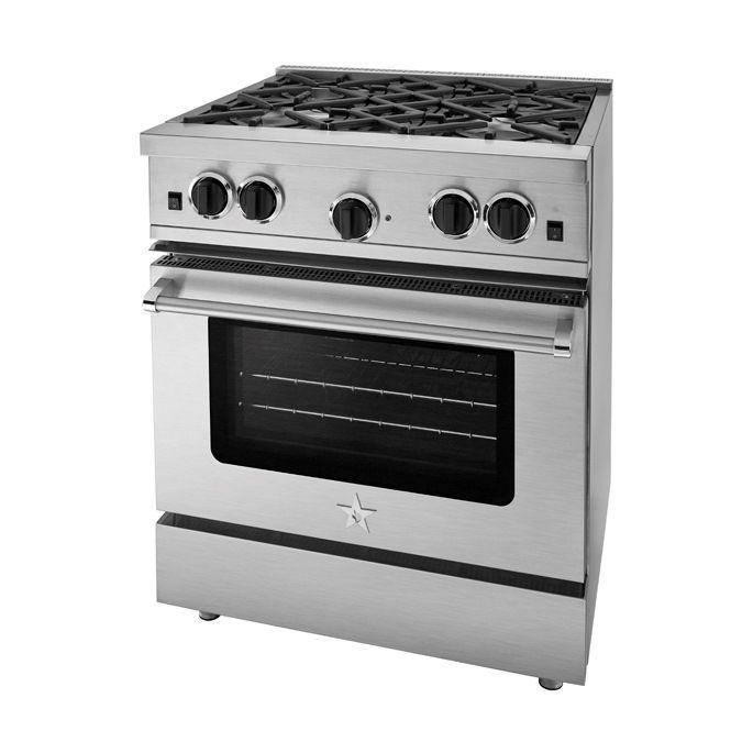 Open Burner Gas Ranges And Stoves Stainless Steel Oven Large Oven Bluestar Range