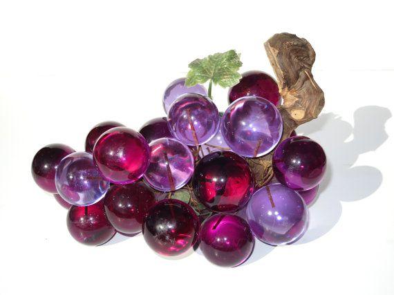 Vintage 1970s Purple And Violet Lucite Grapes 70s Retro Etsy Grape Decor Grapes Vintage