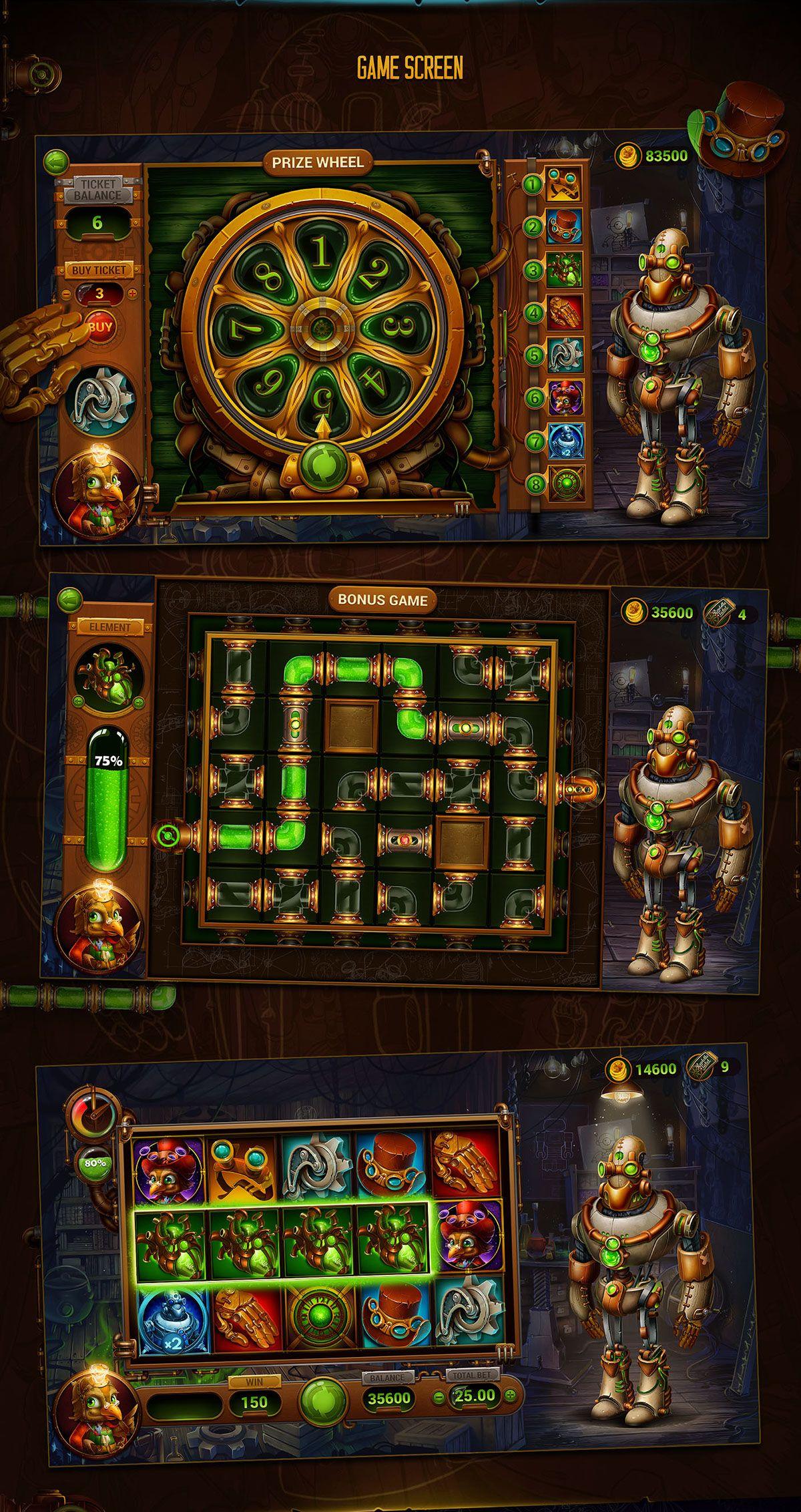 Twist the Gear on Behance | Game : casino | Casino slot
