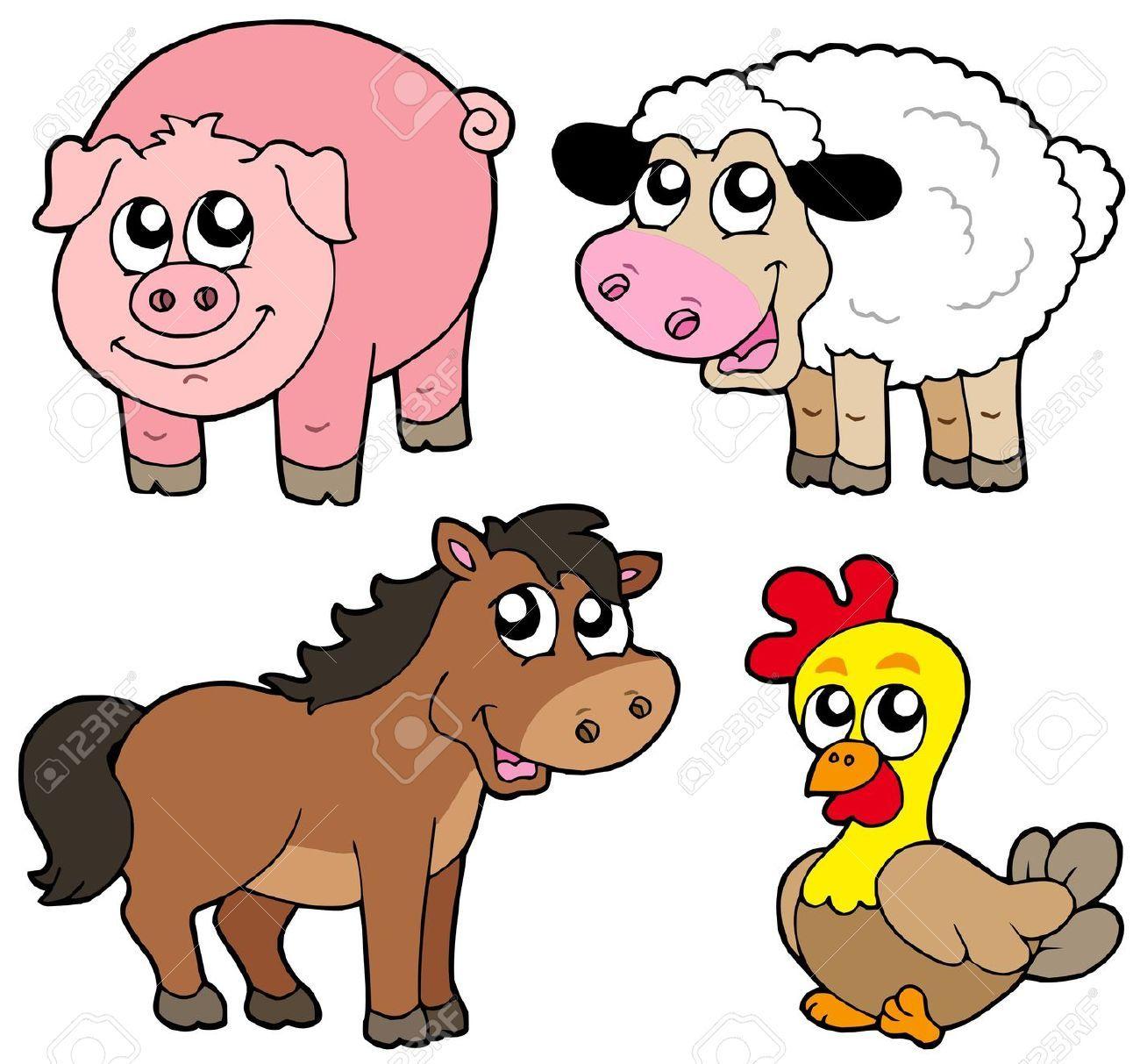 cartoon farm animals Google Search Farm animals