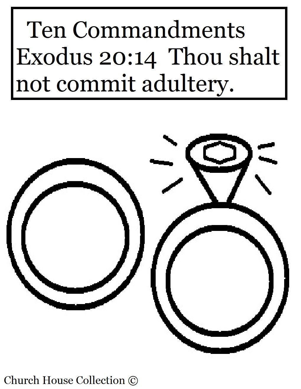 Thou Shalt Not Commit Adultery Coloring Page For Ten Commandments