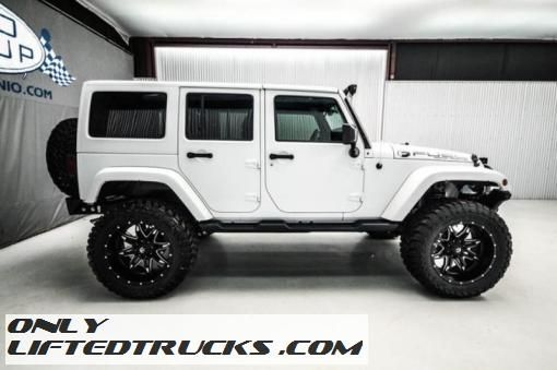 jeep wrangler 2015 white. used 2015 jeep wrangler unlimited sahara lifted white