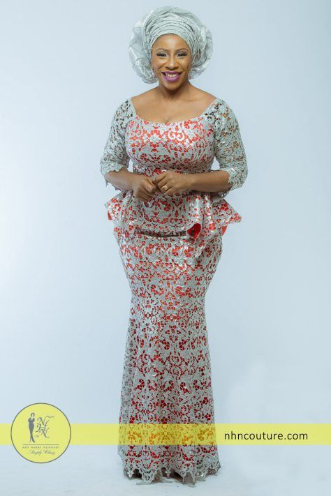 Silver And Coral Asoebi Style Inspiration Nhn My Collection Pinterest Nigerian Lace