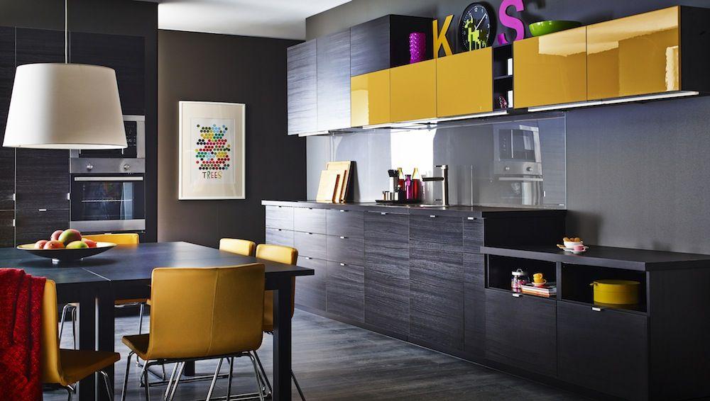 Ikea Metod Finition Tyngsryd Brun Jarsta Jaune Ikeaddict Cuisines Design Cuisine Americaine Cuisine Equipee Moderne