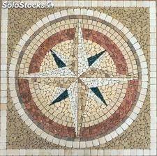 Mosaico Rosa De Los Vientos Nº1 Classic 90cm X 90cm Mosaicos Rosa De Los Vientos Obras De Arte Con Mosaicos