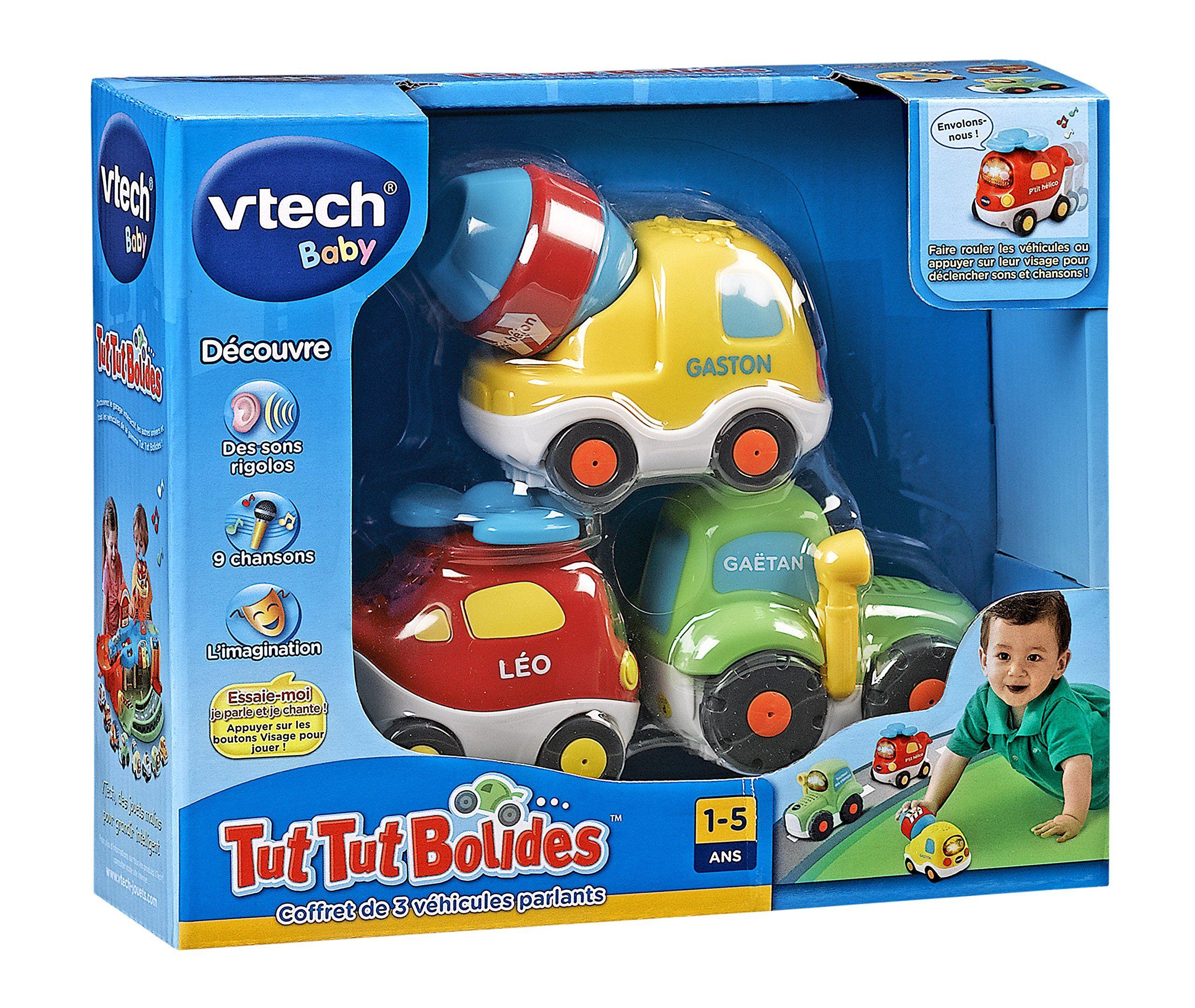 vtech 203905 jouet premier age tut tut bolides coffret trio tracteur h lico. Black Bedroom Furniture Sets. Home Design Ideas