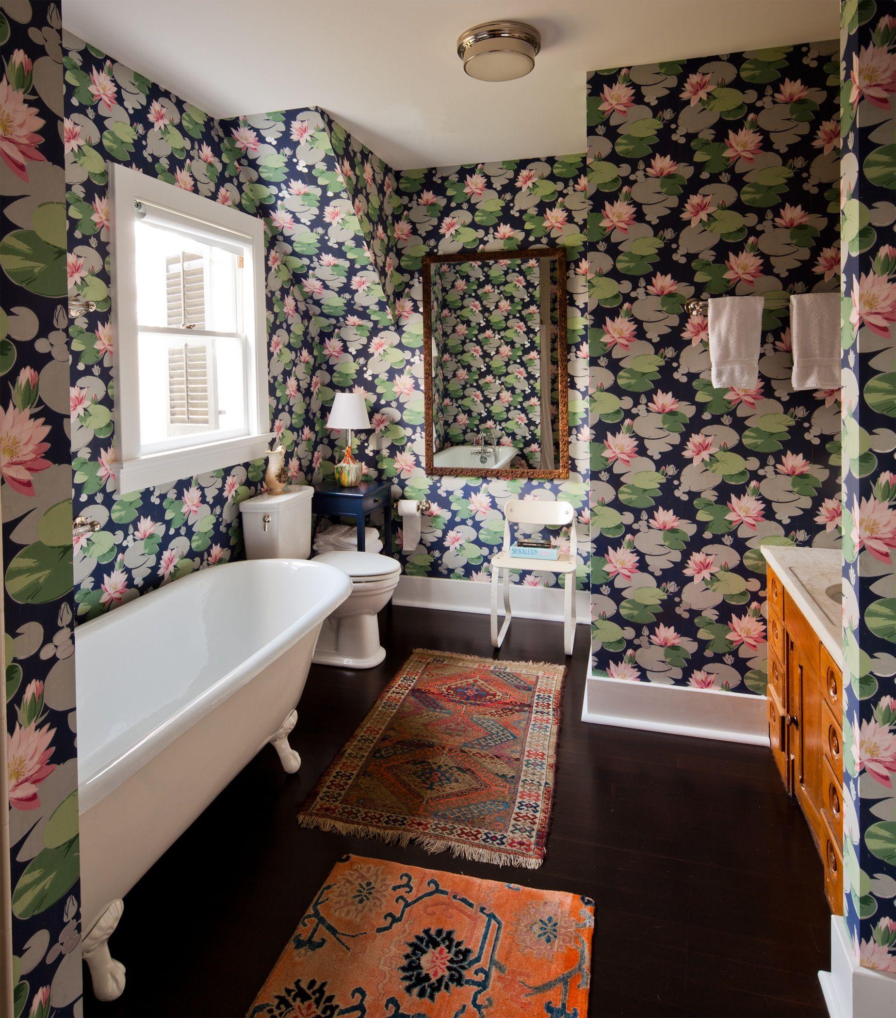 Chairish Bathroom Wallpaper Bathroom Design Bathtub Design