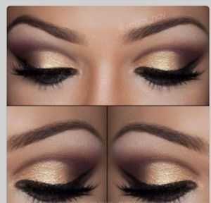 dance competition makeup   golden eye makeup smokey