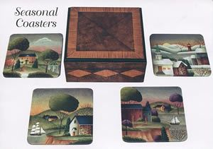 Seasonal Coasters by Betty Caithness. http://www.hofcraft.com/ptcb108-seasonal-coasters-packet-betty-caithness.html