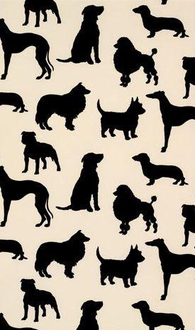 Madison Humphrey Dog Flock Velvet Wallpaper [MDH100