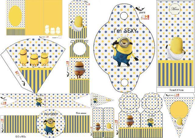Minions Sexy: Imprimibles Gratis para Fiestas. | Minion birthday ...