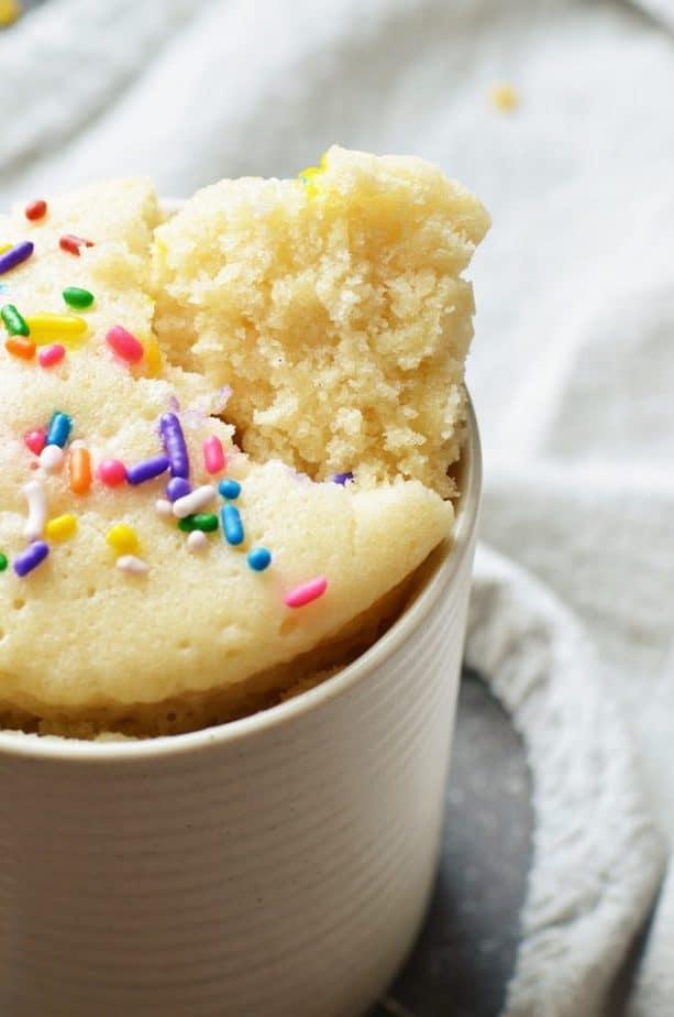 Vanilla Mug Cake No Egg   Eggless Vanilla Mug Cake ...
