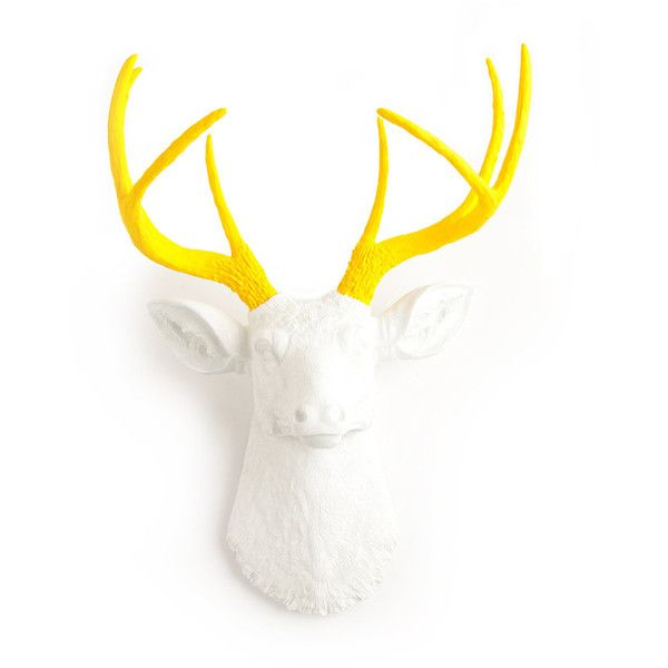 The Baron featuring polyvore, home, home decor, antler home decor, deer antler home decor, deer home decor and monkey home decor