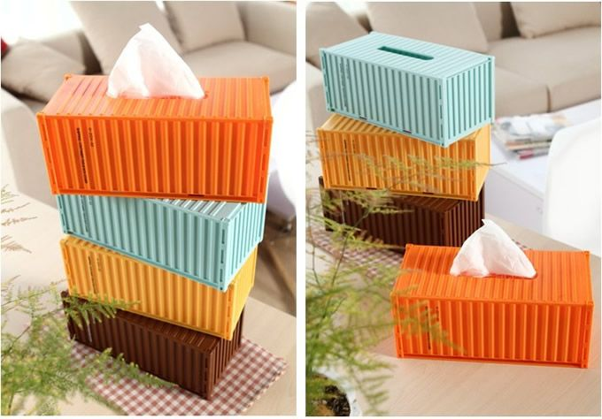 diy shipping container tissue box things i want cargo container homes shipping. Black Bedroom Furniture Sets. Home Design Ideas