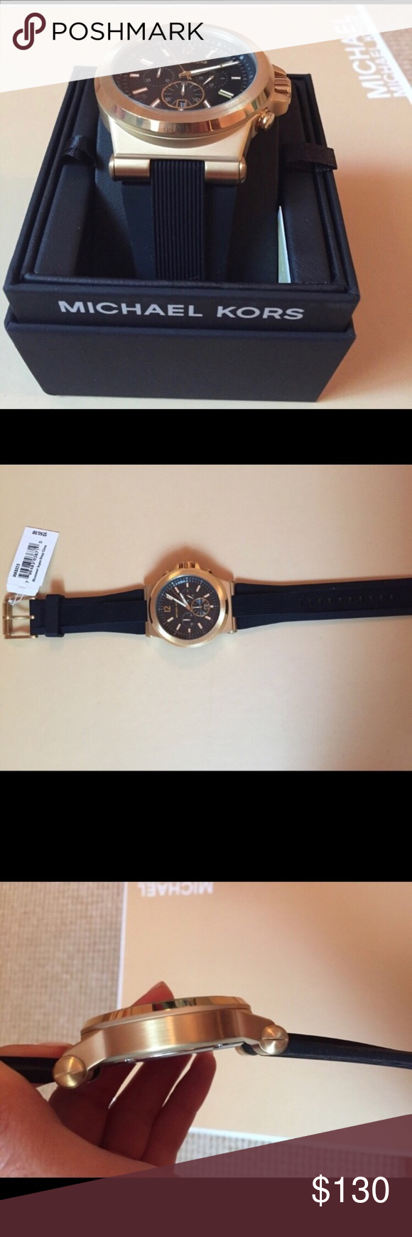 4913bd1c61a5 Michael Kors Dylan watch Michael Kors MK8325 Dylan silicon watch. It has a  48mm stainless steel case and a 22 mm silicone band. Brand new tags  attached