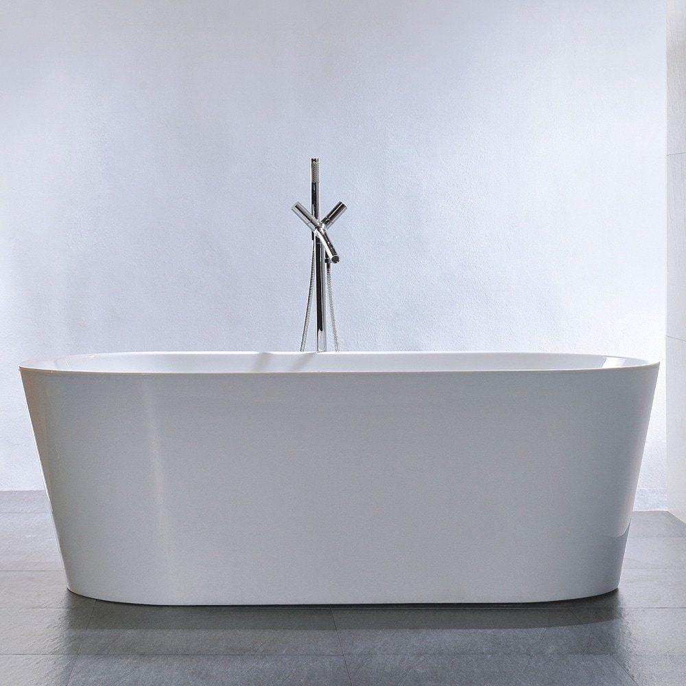 Freestanding 67-inch Double Ended Style White Acrylic Bathtub | Bathtubs